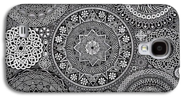 Mandala Bouquet Galaxy S4 Case by Matthew Ridgway