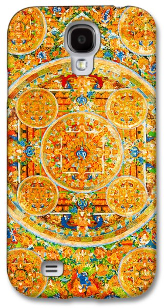 Mandala Of Heruka In Yab Yum And Buddhas 1 Galaxy S4 Case by Lanjee Chee