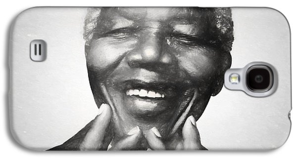 Mandela Charcoal Sketch Galaxy S4 Case by Dan Sproul
