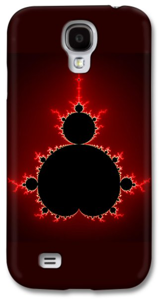 Mandelbrot Set Black And Red Square Format Galaxy S4 Case