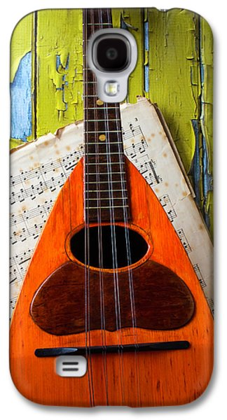 Mandolin And Old Sheet Music Galaxy S4 Case