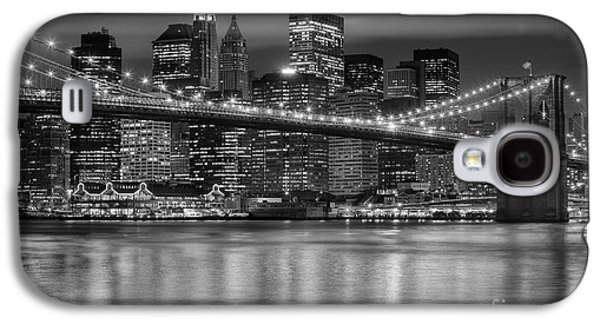 Manhattan Night Skyline Iv Galaxy S4 Case