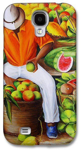 Manuel The Caribbean Fruit Vendor  Galaxy S4 Case
