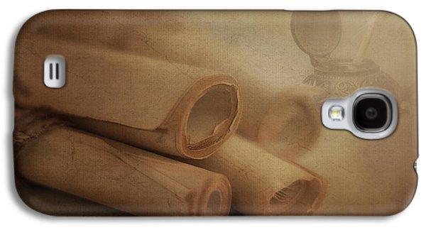 Manuscript Scrolls Still Life Galaxy S4 Case by Tom Mc Nemar