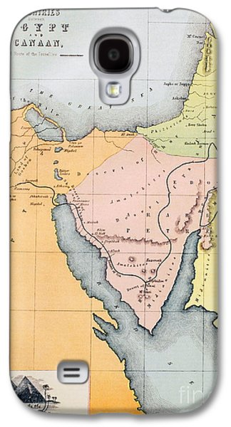 Map Depicting The Countries Between Egypt And Canaan Galaxy S4 Case