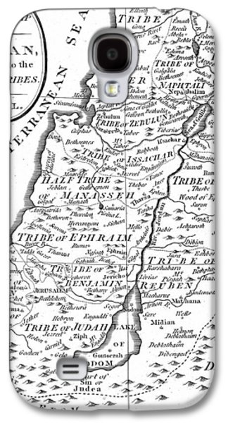 Map Of Canaan Showing The Twelve Tribes Galaxy S4 Case by English School