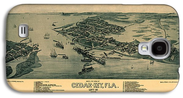 Map Of Cedar Key 1884 Galaxy S4 Case