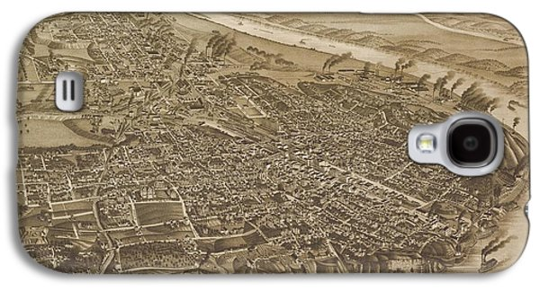 Map Of Chattanooga, County Seat Of Hamilton County, Tennessee 1886 Galaxy S4 Case by Baltzgar