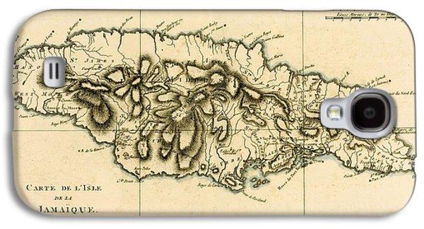 Map Of Jamaica Galaxy S4 Case