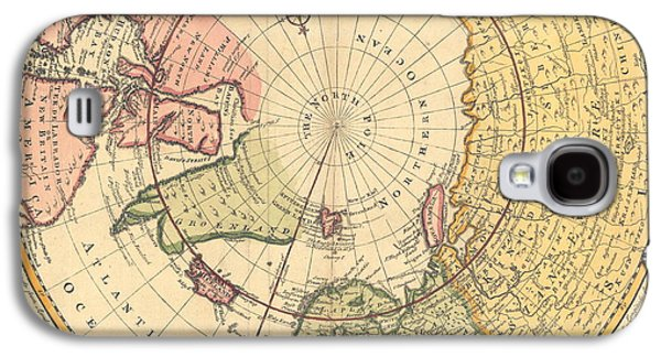 Map Of North Pole Galaxy S4 Case by Emanuel Bowen