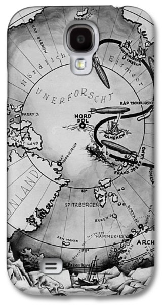 Map Of The Arctic Voyage Of The Airship Lz 127 Graf Zeppelin, 1931 Galaxy S4 Case by German School