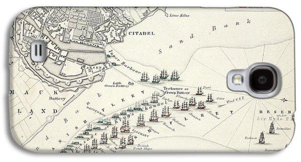 Map Of The Battle Of Copenhagen Galaxy S4 Case