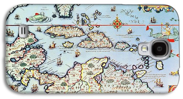 Map Of The Caribbean Islands And The American State Of Florida  Galaxy S4 Case by Theodore de Bry