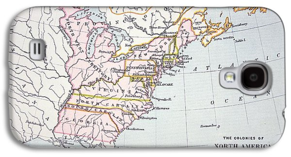 Map Of The Colonies Of North America At The Time Of The Declaration Of Independence Galaxy S4 Case