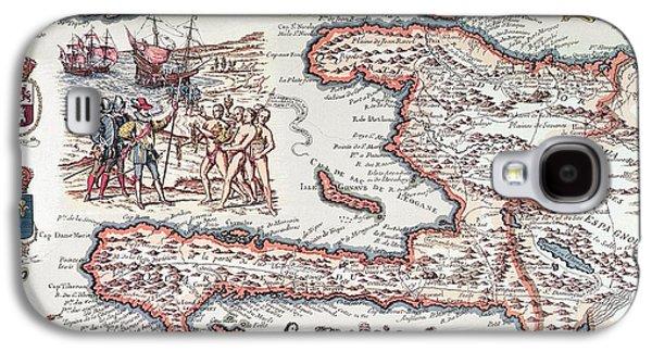 Map Of The Island Of Haiti Galaxy S4 Case