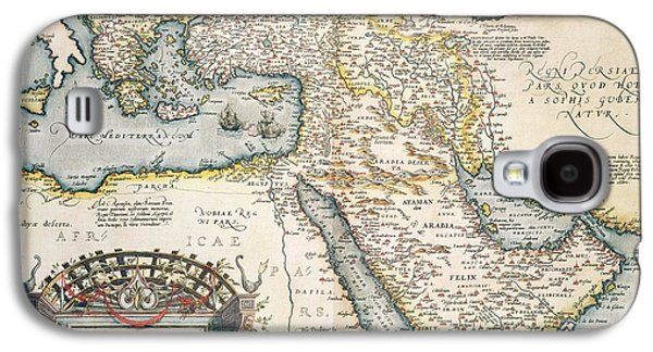 Map Of The Middle East From The Sixteenth Century Galaxy S4 Case by Abraham Ortelius