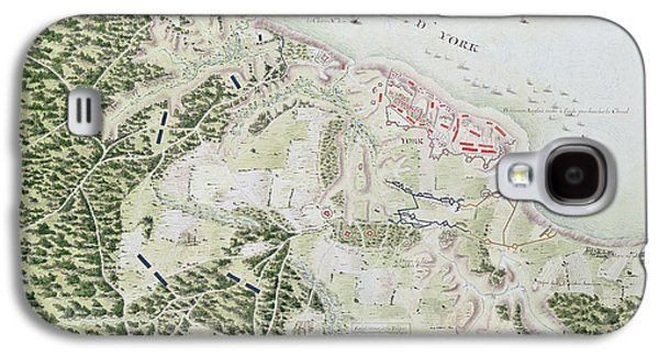 Map Of The Siege Of York Galaxy S4 Case by F Dubourg