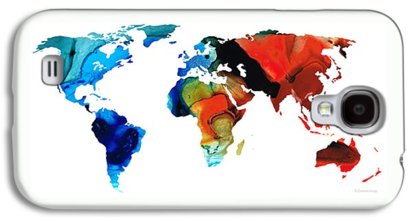 Map Of The World 3 -colorful Abstract Art Galaxy S4 Case