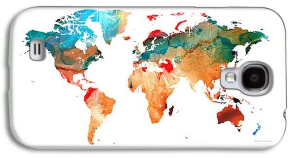 Map Of The World 7 -colorful Abstract Art Galaxy S4 Case