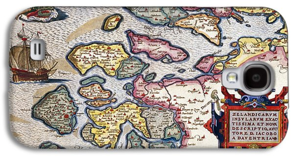 Map Of Zeeland Galaxy S4 Case by Abraham Ortelius