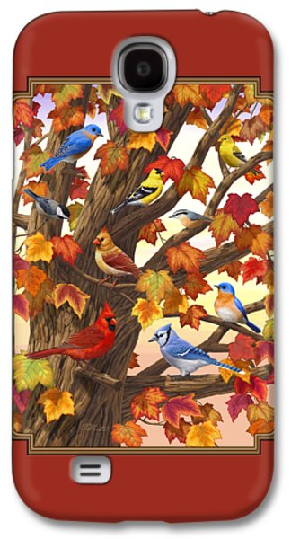 Maple Tree Marvel - Bird Painting Galaxy S4 Case