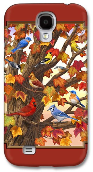 Maple Tree Marvel - Bird Painting Galaxy S4 Case by Crista Forest