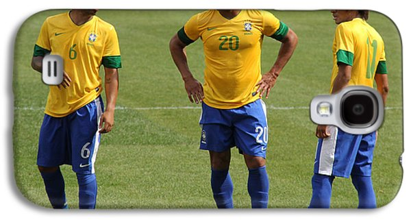 Marcelo Hulk And Neymar Galaxy S4 Case by Lee Dos Santos