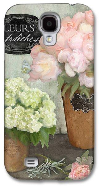 Marche Aux Fleurs 2 - Peonies N Hydrangeas Galaxy S4 Case by Audrey Jeanne Roberts