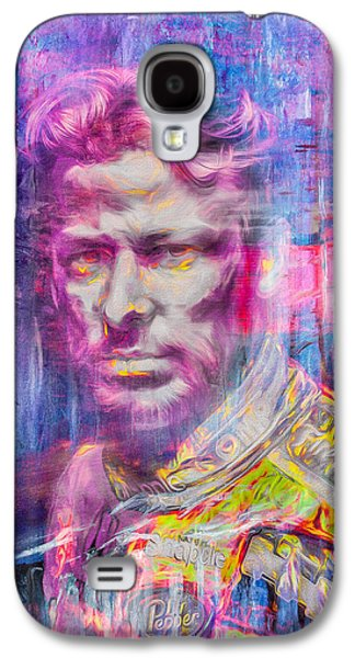 Marco Andretti Digitally Painted Portrait Galaxy S4 Case by David Haskett
