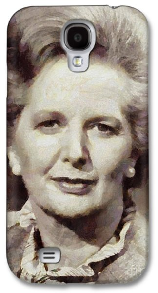 Margaret Thatcher, Prime Minister Of The United Kingdom By Sarah Kirk Galaxy S4 Case by Sarah Kirk