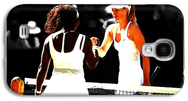 Maria Sharapova And Serena Williams Rivalry Galaxy S4 Case by Brian Reaves