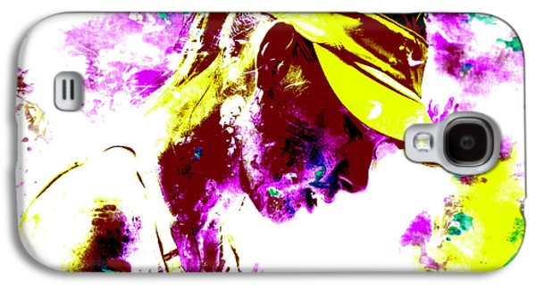 Maria Sharapova Paint Splatter 4c Galaxy S4 Case by Brian Reaves