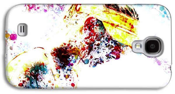 Maria Sharapova Paint Splatter 4p                 Galaxy S4 Case by Brian Reaves