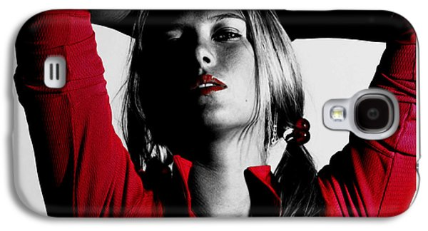 Maria Sharapova Red Hot Galaxy S4 Case by Brian Reaves