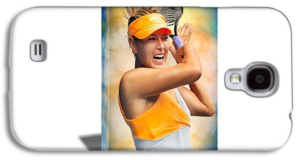 Maria Sharapova Tennis Canvas Art Galaxy S4 Case