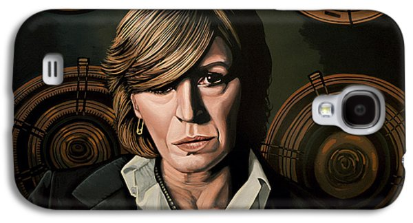 Marianne Faithfull Painting Galaxy S4 Case by Paul Meijering
