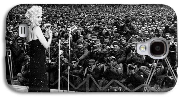 Marilyn Monroe Entertaining The Troops In Korea Galaxy S4 Case by American School