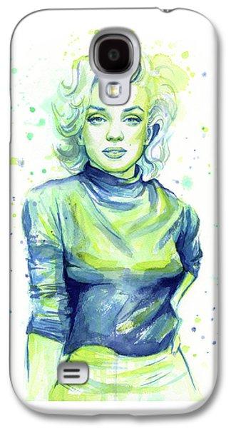 Marilyn Monroe Galaxy S4 Case - Marilyn Monroe by Olga Shvartsur