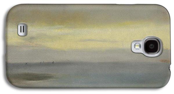 Marine Soleil Couchant Galaxy S4 Case by Edgar Degas