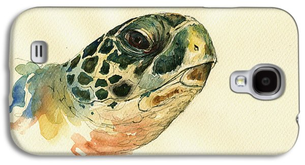 Marine Turtle Galaxy S4 Case by Juan  Bosco