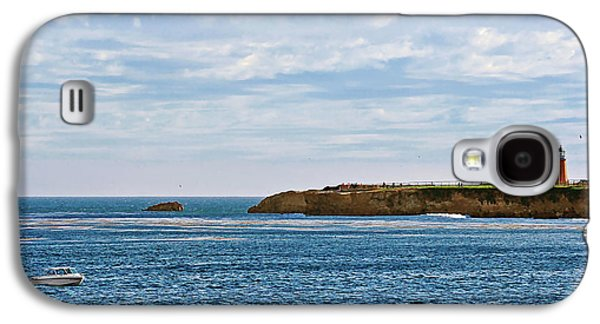 Steamer Lane Galaxy S4 Cases - Mark Abbot Memorial Lighthouse - Lighthouse on the beach - Santa Cruz CA USA Galaxy S4 Case by Christine Till