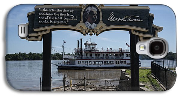 Mark Twain On The Big Muddy Galaxy S4 Case by David Bearden