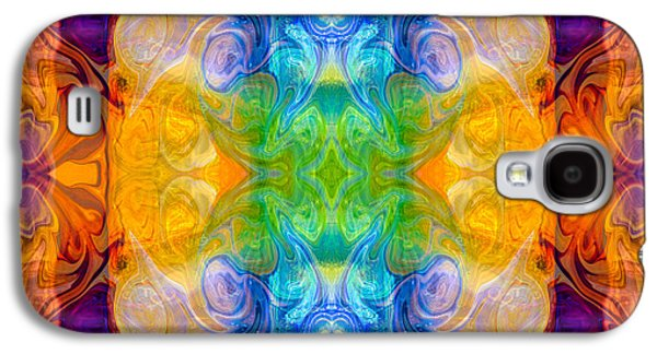Marrying A Rainbow Abstract Bliss Art By Omashte Galaxy S4 Case by Omaste Witkowski