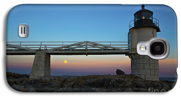 Marshall Point Lighthouse With Full Moon Galaxy S4 Case by Diane Diederich
