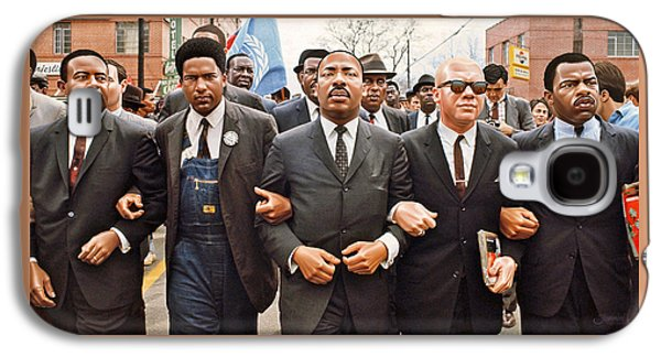 Martin Luther King Selma Drawing Galaxy S4 Case by Jovemini ART