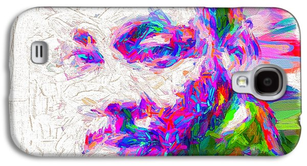 Martin Luther King Jr Mlk Painted Digitally Galaxy S4 Case by David Haskett