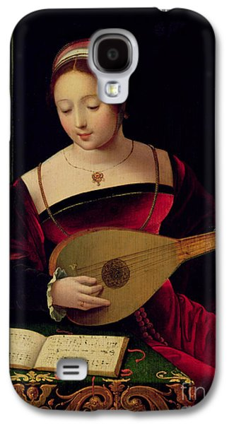 Mary Magdalene Playing The Lute Galaxy S4 Case by Master of the Female Half Lengths