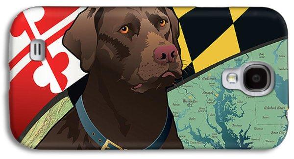 Maryland Chocolate Lab Galaxy S4 Case
