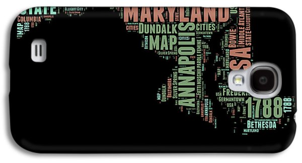 Maryland Word Cloud 1 Galaxy S4 Case by Naxart Studio
