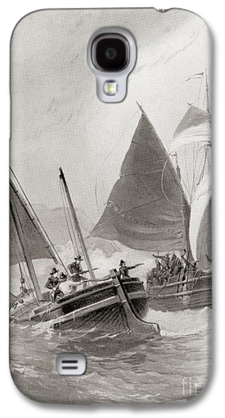 Mason And Gallop Attacking The Indians Off Block Island Galaxy S4 Case